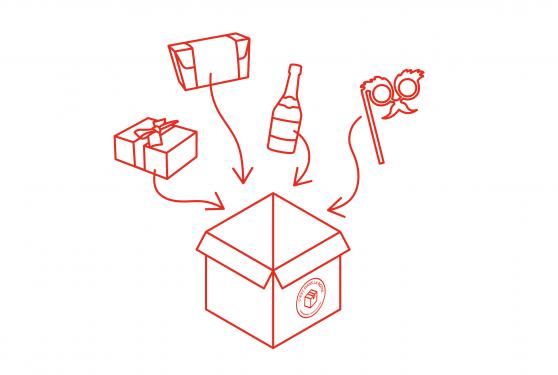 box cadeaux c'est dans la boîte accentaigu événement digital