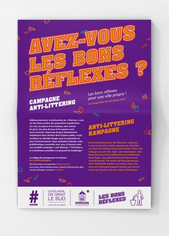 dépliant informations campagne anti-littering ville de dudelange accentaigu