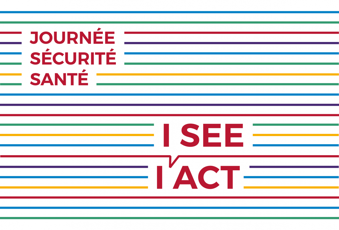 Lignes bleues vertes rouge violettes et jaune pour l'identité visuelle de la Journée Sécurité Santé CFL 2017