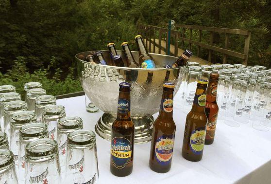 Gros plan sur les bières Diekirch