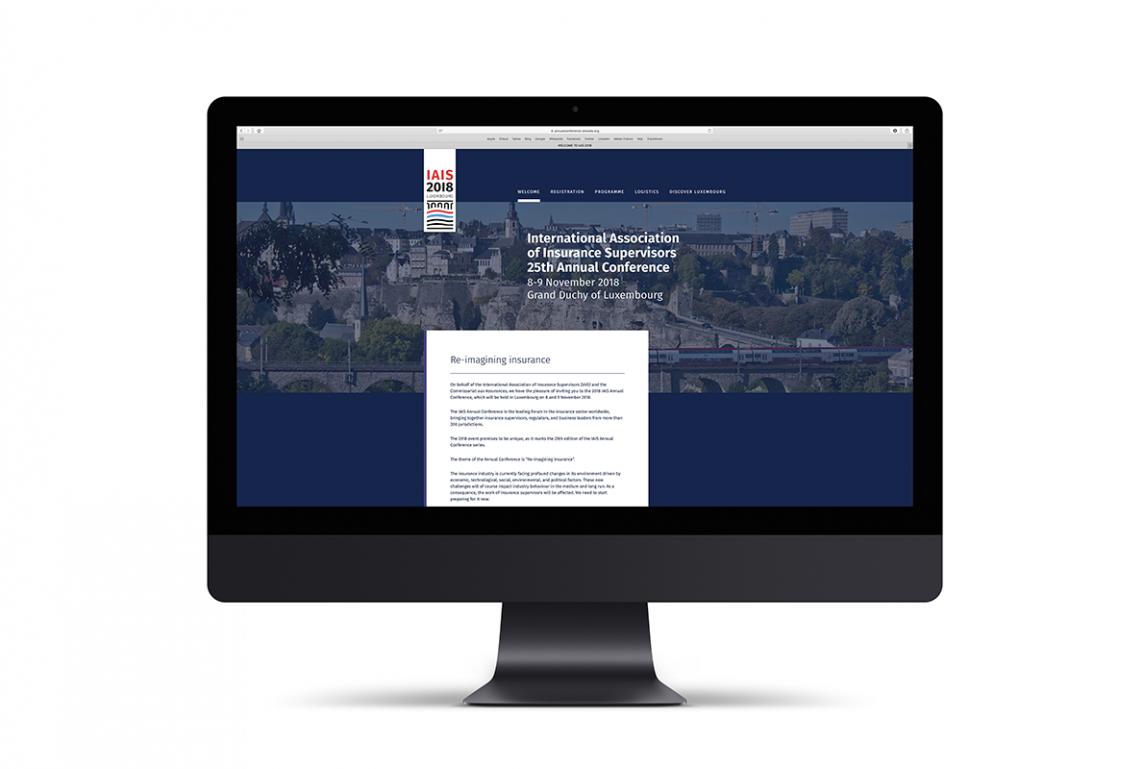 Page d'accueil du site internet de l'IAIS Annual Conference 2018