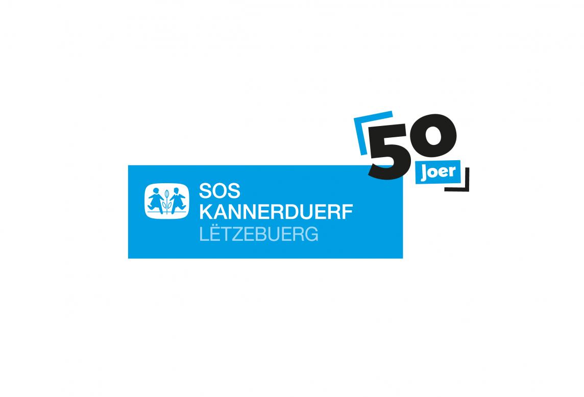 Logotype du SOS Kannerduerf Luxembourg à l'occasion de leur 50e anniversaire