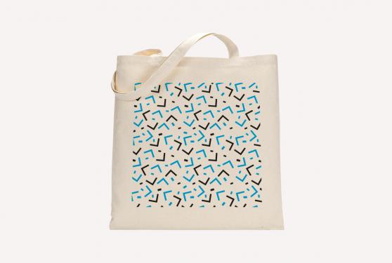Totebag en coton avec impression en sérigraphie du motif réalisé à l'occasion du 50e anniversaire
