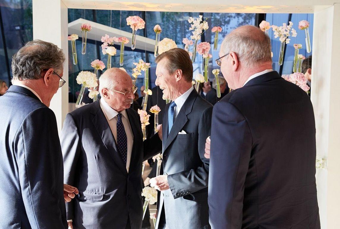 Son Altesse Royale le Grand-Duc Henri arrive sur le lieu de l'événement