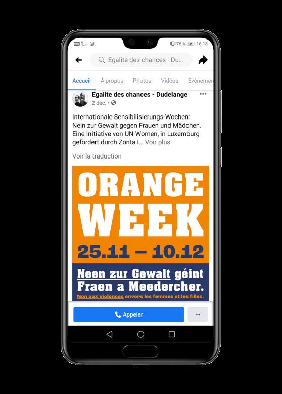 publication facebook service égalité des chances ville de dudelange