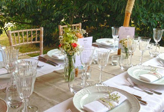 Décoration de table et mobilier pour un événement privé